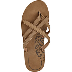 Teva Olowahu Leather - Sandales Femme - marron